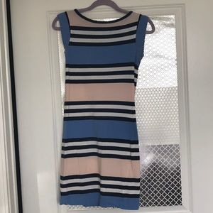 FRENCH CONNECTION tight striped summer dress XXS